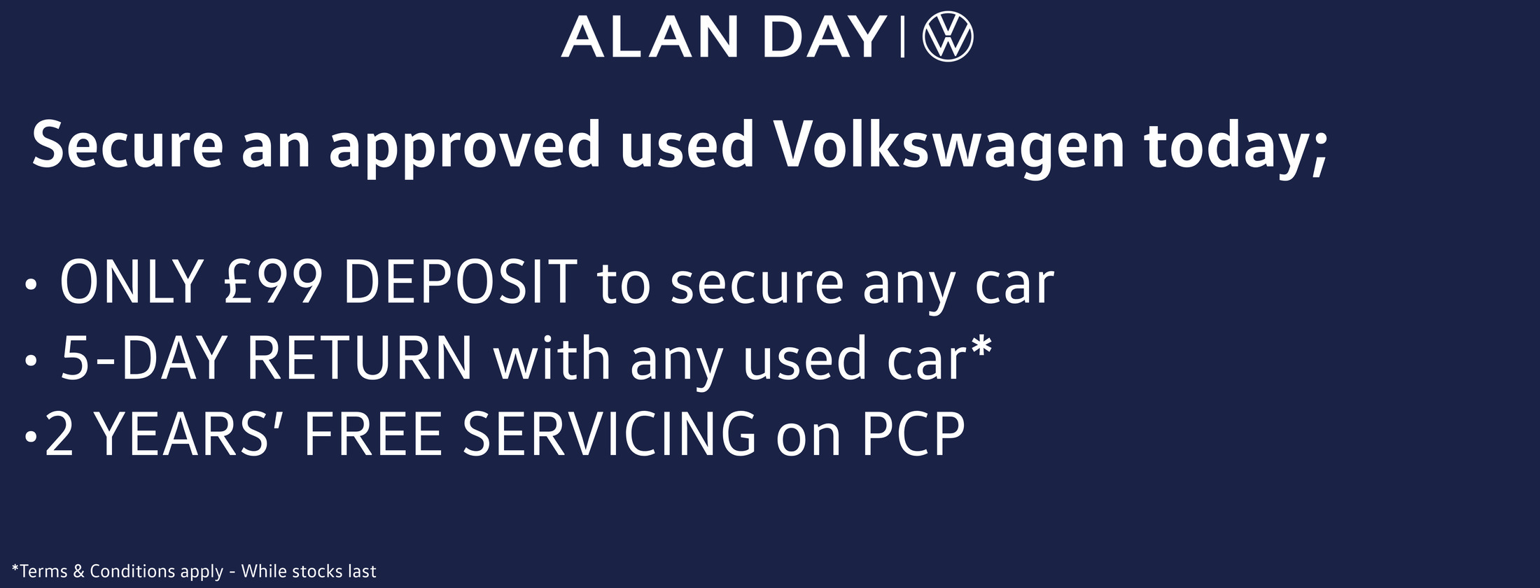 Secure a Used VW Today